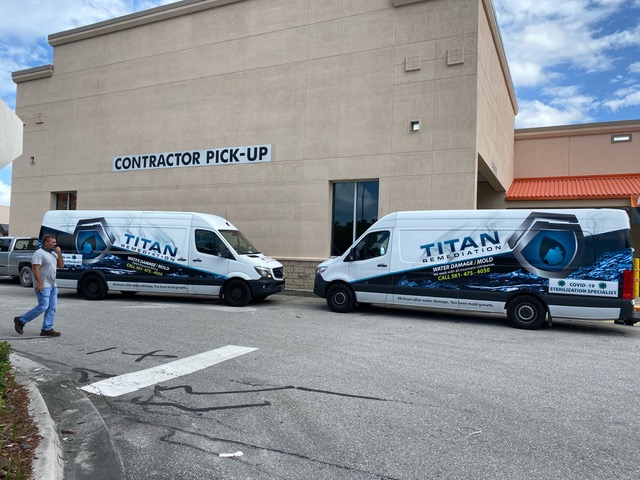 Titan Remediation vans