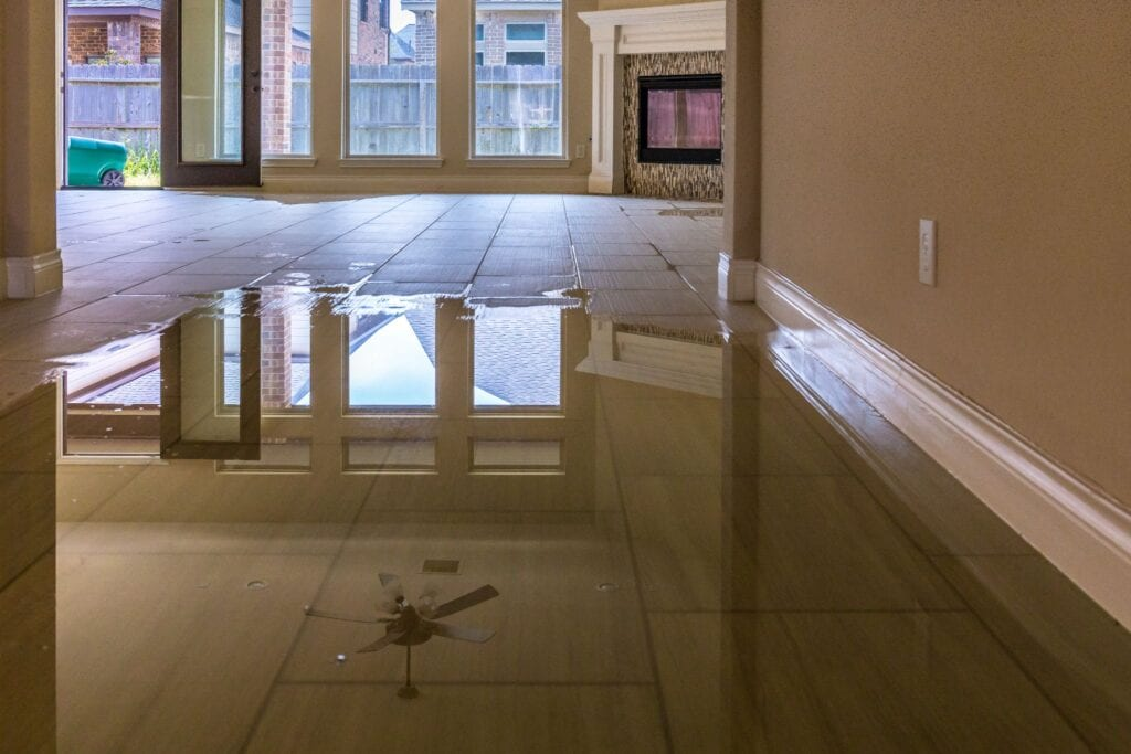 Family house in Houston suburb flooded